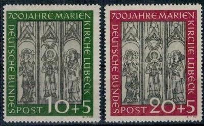 Německo BRD SRN 1951 Známky Mi 139-140 ** fresky katedrála Lubeck