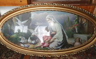 Velký starožitný svatý obraz