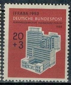 Německo BRD SRN 1953 Známka Mi 172 ** výstava filatelie budova