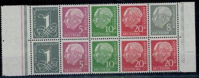 Německo BRD SRN 1958 Známky Mi HB 8 ** Prezident Heuss
