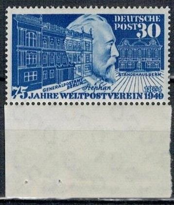 Německo BRD SRN 1949 Známka Mi 116 ** pošta von Stephan UPU