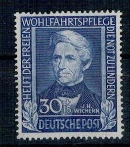 Německo BRD SRN 1949 Známka Mi 120 ** dobrodinci lidstva teolog