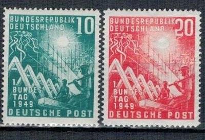 Německo BRD SRN 1949 Známky Mi 111-112 ** slunce parlament otevření pa