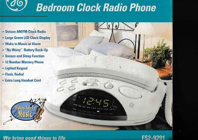 pevný telefon s radiobudíkem