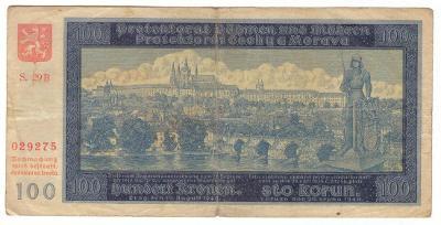 1940 (B+M) - Bankovka 100 K, NEperforovaná, série 29B, II. vydání(6068