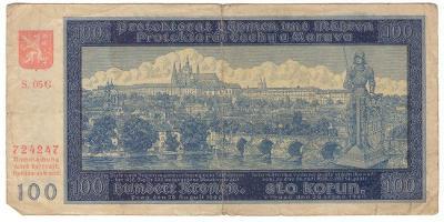 1940 (B+M) - Bankovka 100 K, NEperforovaná, série 05G, II. vydání(6069