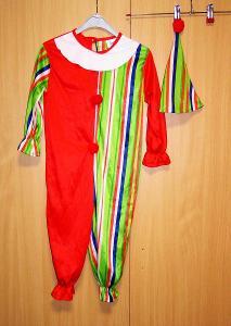 9479 KLAUN - karnevalový kostým pro děti vel.104