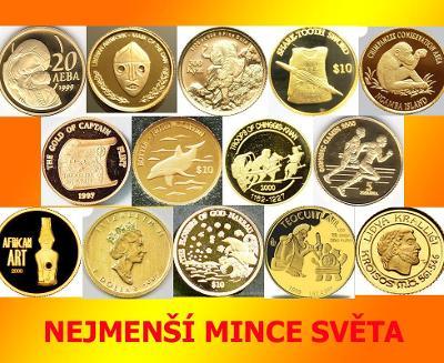 Sbírka Nejmenší mince světa: 14 ks  Proof (obvyklá cena 3-4tis)