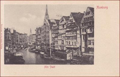 Hamburg * lodě, kanál, část města * Německo * Z1725