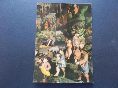 Veselé vánoce betlém figurka foto Feyfar prošlá 1988 se známkou