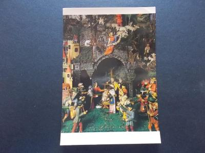 Veselé vánoce betlém figurka foto Misurová Diasová 1988 se známkou