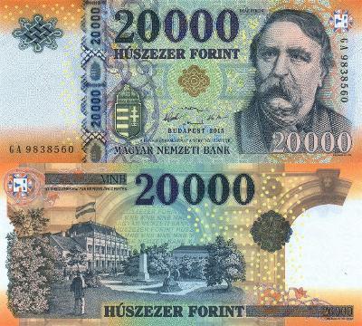 MADARSKO 20000 Forint 2015 P-207a UNC