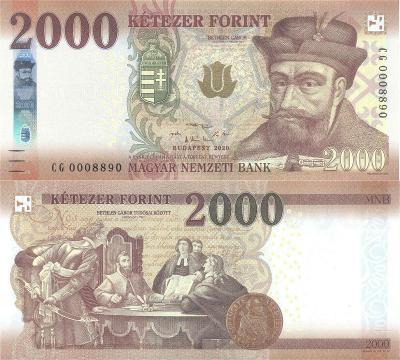 MADARSKO 2000 Forint 2020 P-204c UNC