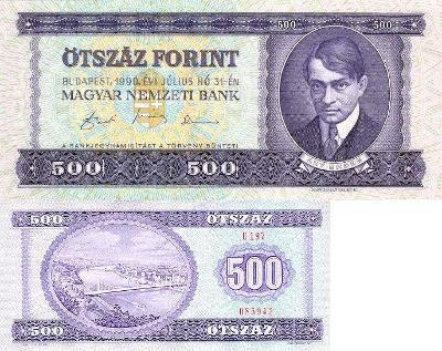 MADARSKO 500 Forint 1990 P-175 UNC