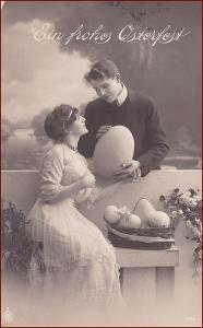 Žena * muž, dvojice, láska, atelier foto, Velikonoce * M7494