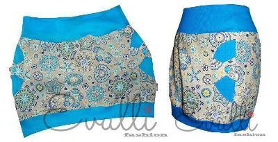 Balonová sukně EVULLI vel. M - modré mandaly