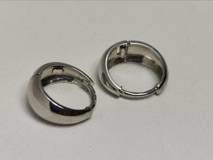 Zlaté bílé kroužky hladké - Šperky