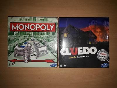 NOVÁ sada 2 her HASBRO - Monopoly a Cluedo