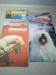 Časopis chovatel ročník 28, rok 1989, č. 1, 2, 3, 5, 7, 8, 10 - viz fo