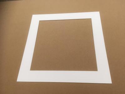 Pasparty bílé s bílým řezem  405x405 mm  Výprodej zásob
