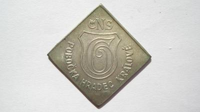 ČNS Hradec Králové - pam. žeton k 10 výročí nálezu 1980