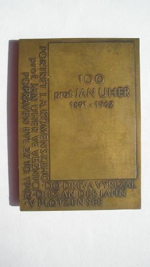 Prof. Jan Uher - Popraven 27.10. 1942 - Faleristika