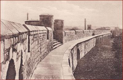 York * City Walls, městské hradby, opevnění * Anglie * Z152