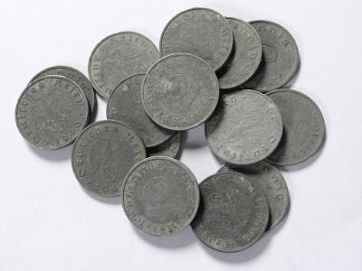 15x 10 Pfennig, válečné.