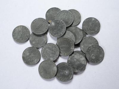 20x 1 Pfennig, válečné.