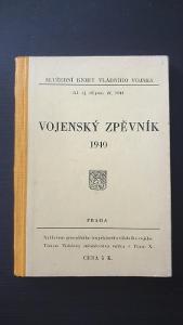 Služební kniha Vládního vojska-Vojenský zpěvník-1940-Pochodové písně!