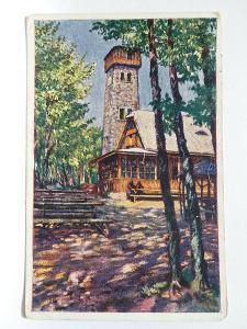 Čerchov - Domažlice - chata - rozhledna - malíř Mašek - razítko 1922