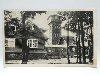 Čerchov - Domažlice - chata - rozhledna - razítko 1935