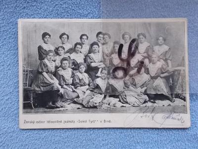 Brno Tyrš  skupinové foto portréty ženy Odbor Sokola Raritní !