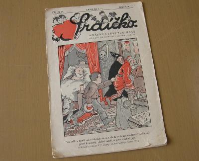 Srdíčko ročník II, číslo 15 * 1933-34 * starý dětský časopis * Kotyšan