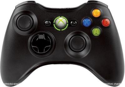Microsoft Xbox 360 Bezdrátový ovladač černý **POUŽITÝ**