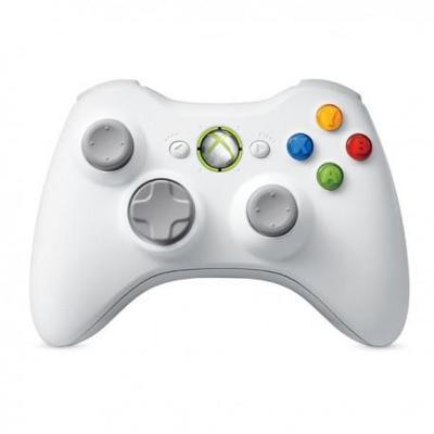 Microsoft Xbox 360 Bezdrátový ovladač bílí **POUŽITÝ**