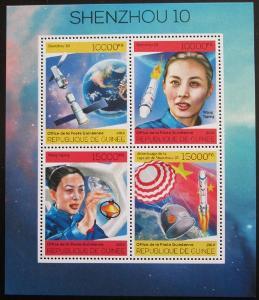 Guinea 2014 Vesmírný projekt Shenzhou 10 Mi# 10237-40 Kat 20€ 0913