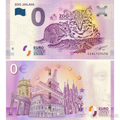 0 euro bankovka ZOO Jihlava