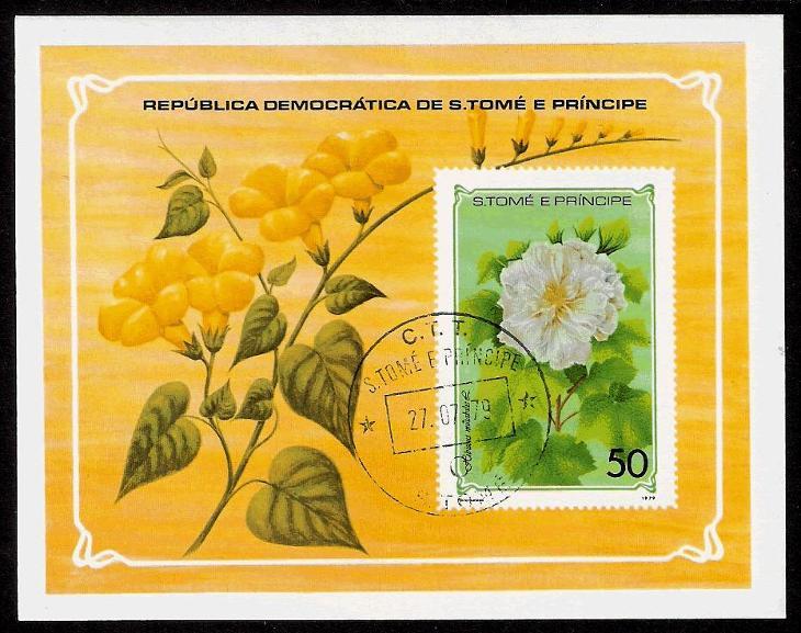 2ks aršíků Sv.Tomáš 1979 - Flora - Katalog: 700,- 1A kvalita s lepem - Filatelie