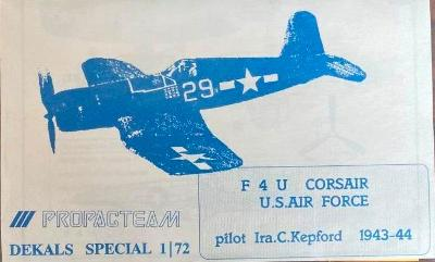 Obtisky F4U Corsair Propagteam 1/72