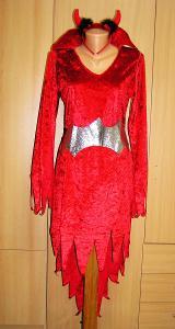 9545 ČERTICE - karnevalový kostým pro dospělé vel.S