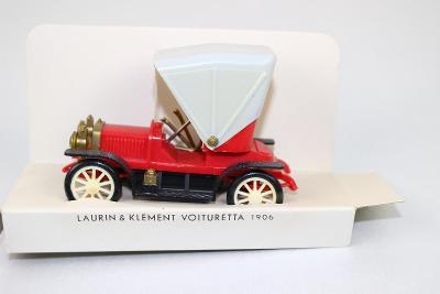 IGRA - PĚKNÝ STARÝ MODEL AUTO - AUTOMOBIL LAURIN & KLEMENT původní bal