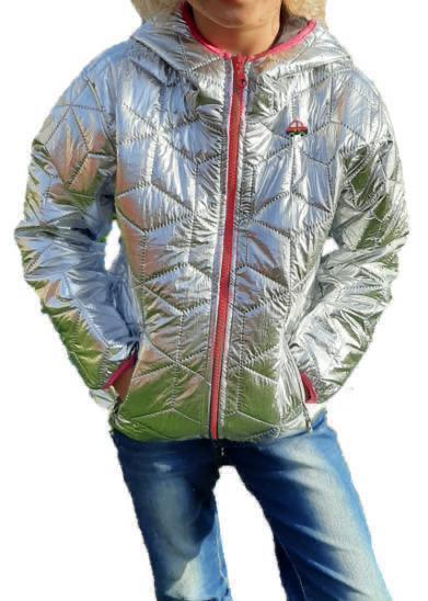Stříbrná zateplená přechodová bunda vel. 92