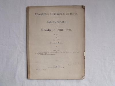 Gymnasium zu Essen Jahres-Bericht 1890-1891