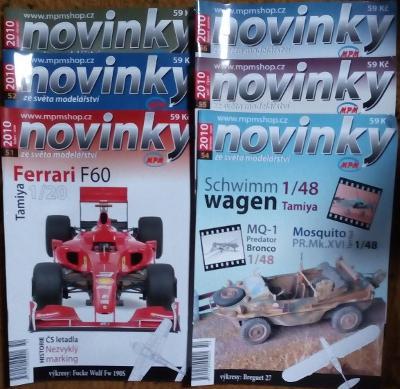 6x Modelářský časopis Novinky ročník 2010