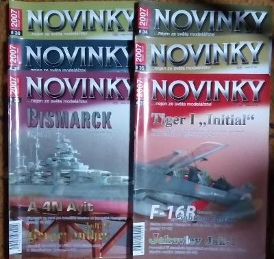 6x Modelářský časopis Novinky ročník 2007