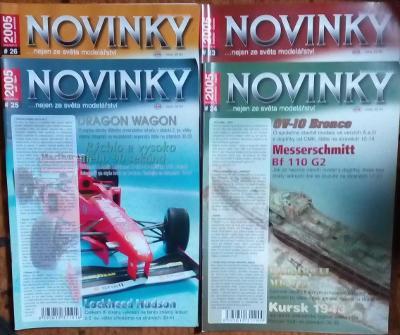 4x Modelářský časopis Novinky ročník 2005