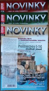 6x Modelářský časopis Novinky ročník 2006