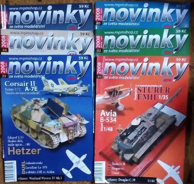 6x Modelářský časopis Novinky ročník 2008