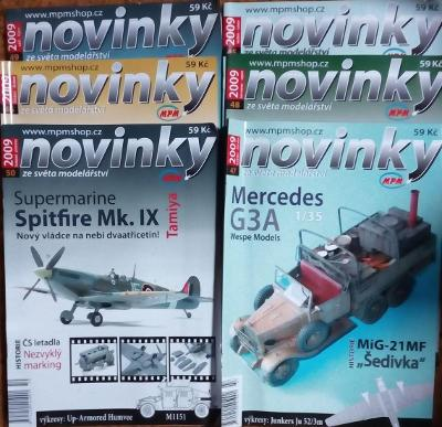 6x Modelářský časopis Novinky ročník 2009